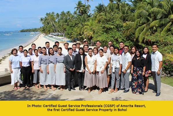 Certified Guest Professionals of Amorita Resort - The First Certified Guest Service Property in Bohol Province