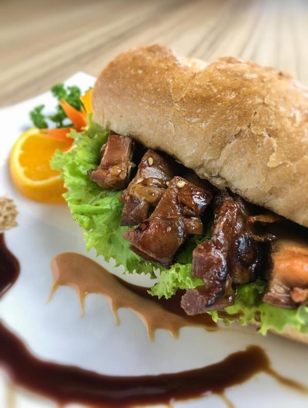 Chicken teriyaki is given a new twist as a sandwich meal. Kitsho's new breakfast offerings