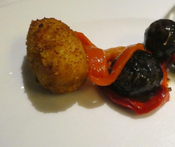 Jamon (ham) croquet & blood sausage
