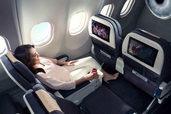 Philippine Airlines bigger space and comfortable Premium seats