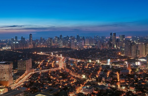 View from The Peak at the Grand Hyatt Manila BGC