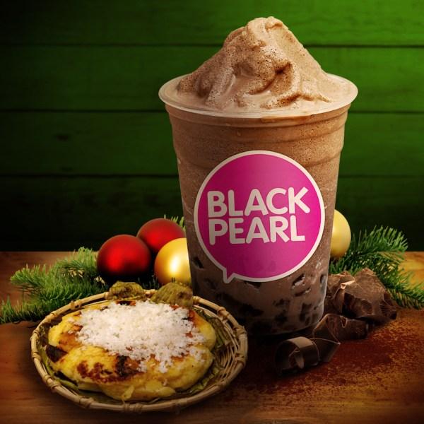 Black Pearl makes the Filipino favorite simbang-gabi treat, bibingka, sweeter with its Classic Chocolate Shake variant
