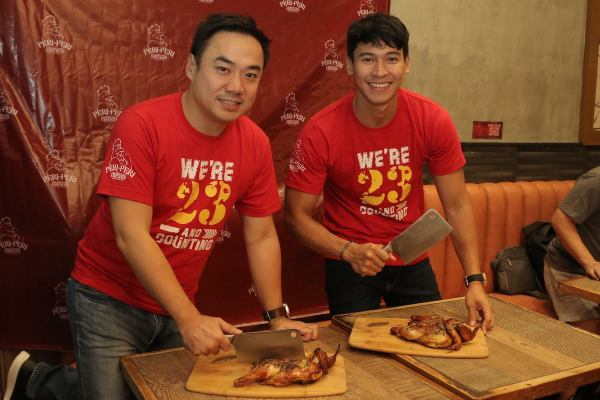 Brian Tiu and Enchong Dee at Peri-Peri McKinley Venice Grand Canal