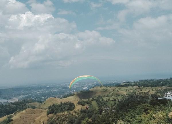 Enjoying the view of Indahag hills