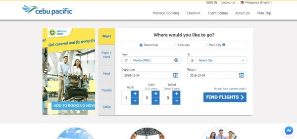 How to Book Cebu Pacific Seat Sale Tickets Online