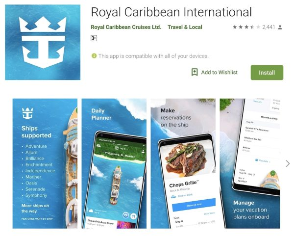 Royal Caribbean International App
