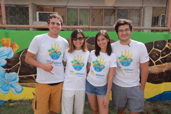 """Juan Effect"" advocates Erwan Heussaff, Jasmine Curtis- Smith, and Kyle ""Kulas"" Jennerman with Anina Rubio"