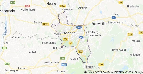 Aachen, the city of Charlemagne - Aachen Map via Google Maps