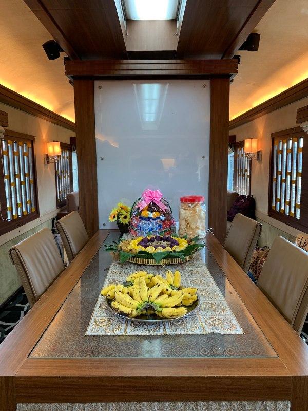 Kereta Wisata Luxury Train Dining Area
