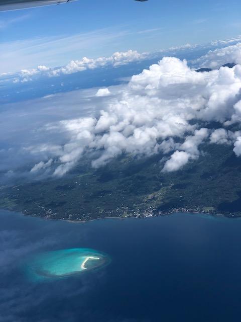 Aerial View of Camiguin White Beach Sand photo via Skyjet