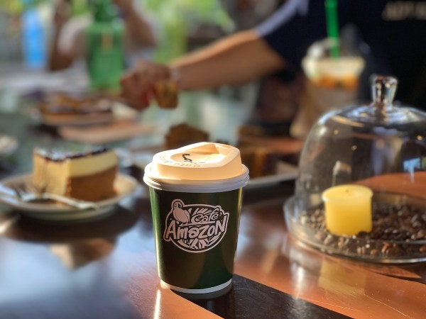 Black Coffee and Pastries at Cafe Amazon