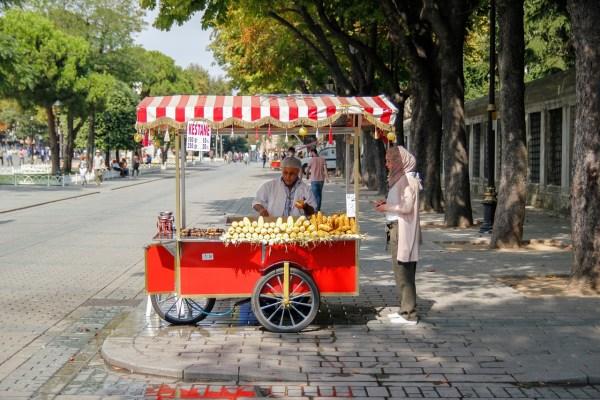 corn on the cob in Istanbul