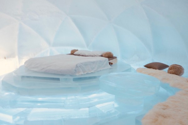 Bedroom made from Ice