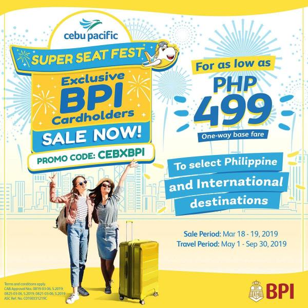 Cebu Pacific Super Seat Fest Exclusive for BPI Cardholders