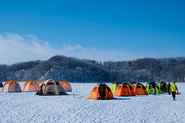 Fishing Tents in Abashiri Lake