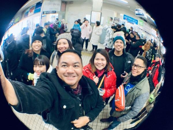 Group shot at Abashiri Station