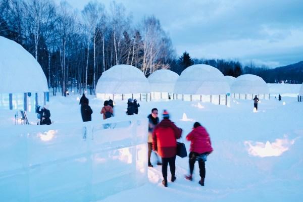Ice Village at Night