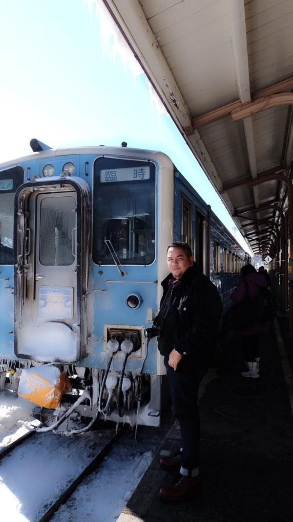 Melo at Abashiri Station