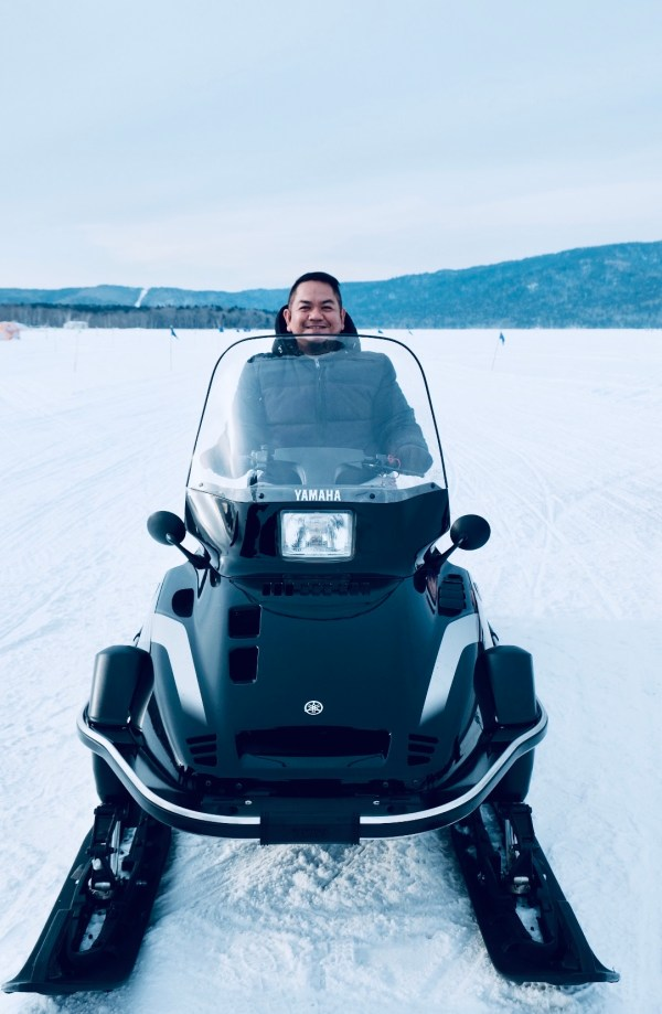 Snowmobile Experience at Lake Akan