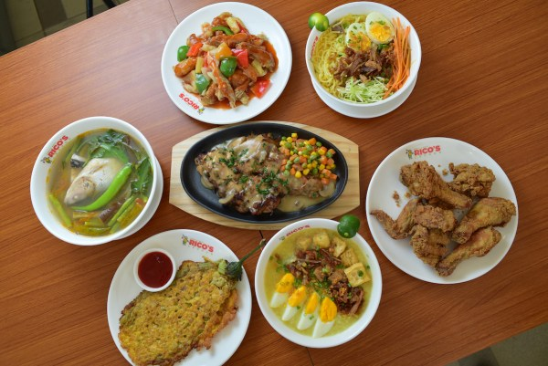 The restaurant offers new specialty dishes of Rico's Lechon
