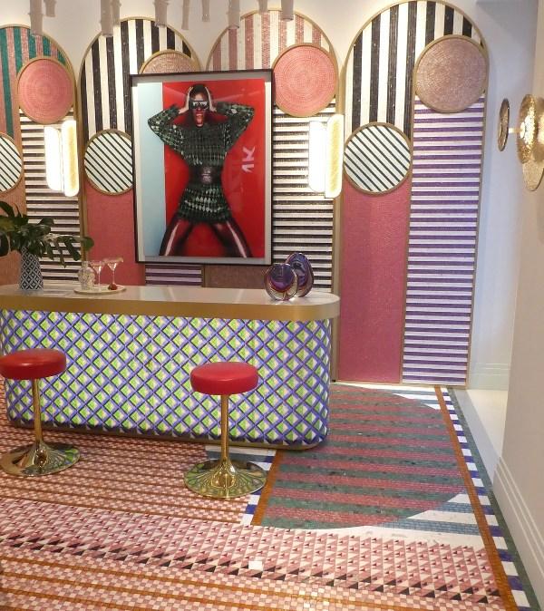colorful Casa Décor tiled room – crazy!