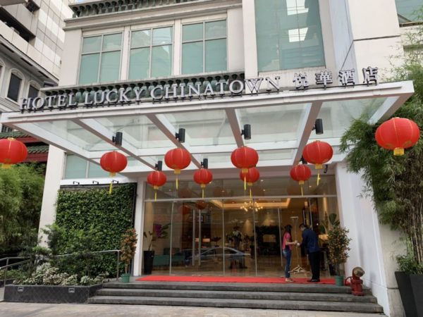 Hotel Lucky Chinatown entrance