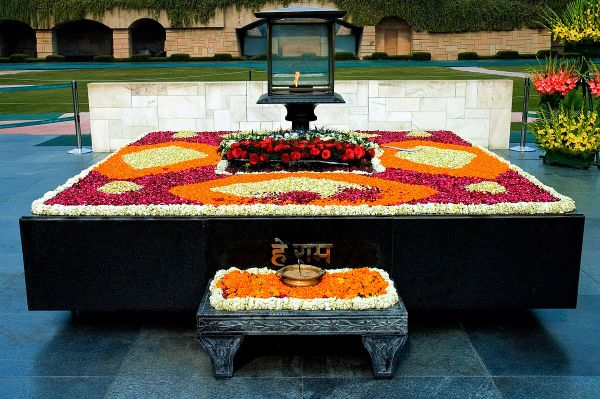 Rajghat Memorial via Wikipedia CC