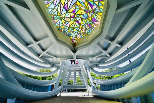 448 pieces of colored glazed glass that symbolizes the colorful island of Taiwan