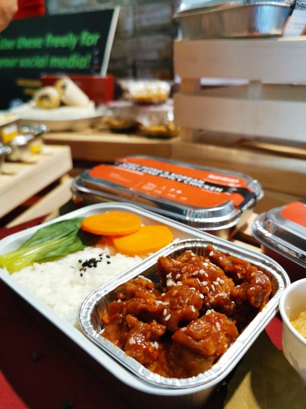 Korean Sweet & Spicy Chicken meal