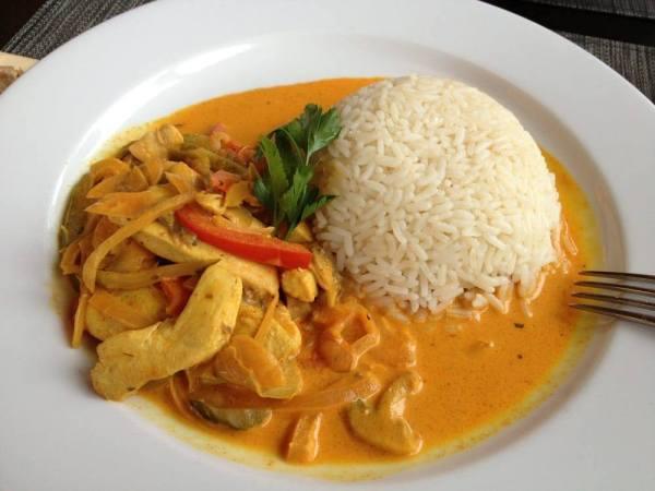 Chicken strogonoff at Butterfly Phuket Restaurant