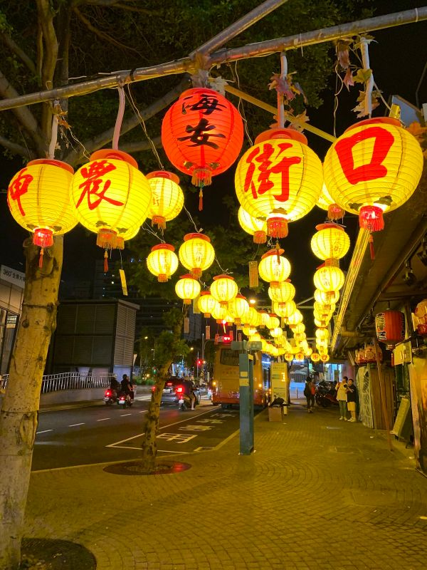 Colorful Lanterns at the corner of the Old Shennong Street