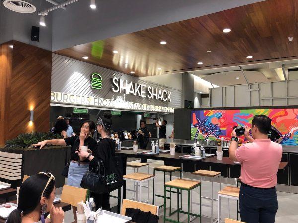 Interiors of Shake Shack Burgers Philippines