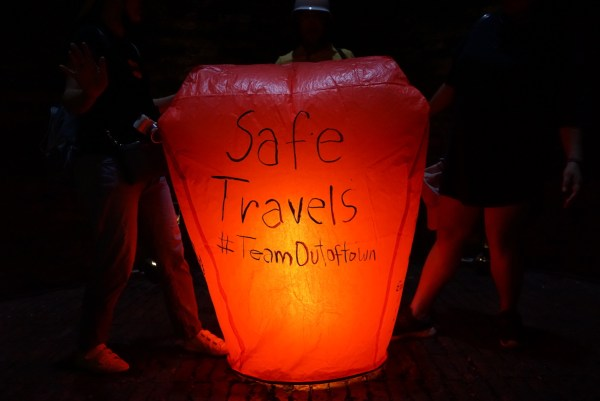 Our Sky Lantern at Ten Drum Cultural Village