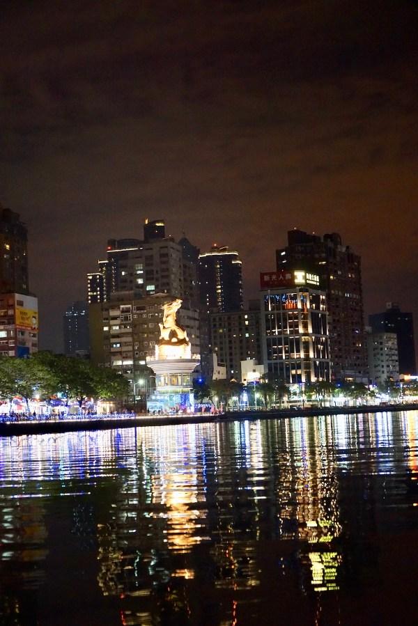 Riverbank at night in Kaohsiung