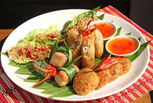 Thai Platter at Vu's Sky Bar and Lounge
