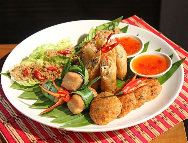 Thai Platter at Vu's Sky Bar and Lounge