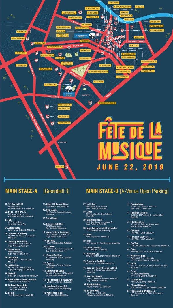 Fete de la Musique Map Manila
