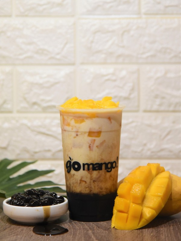 Mango Milk with Brown Sugar Boba