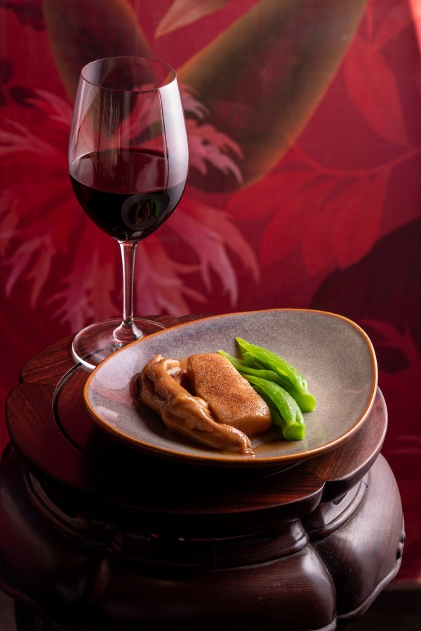 The Wonder Set – Braised Goose Web with Chiu Chow Pomelo Peel and Shrimp Roe