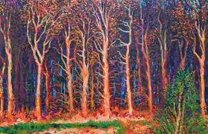 "Baguio Sunset by Michael Sagaran, 36"" x 48"" acrylic on canvas"