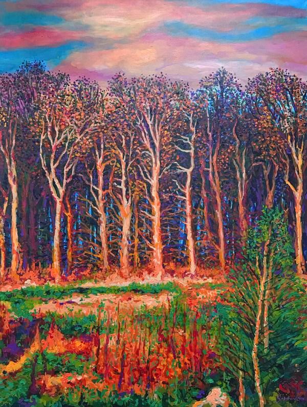 "Baguio Sunset by Michael Sagaran, 36"" x 48"" acrylic on canvas - Art for Always"