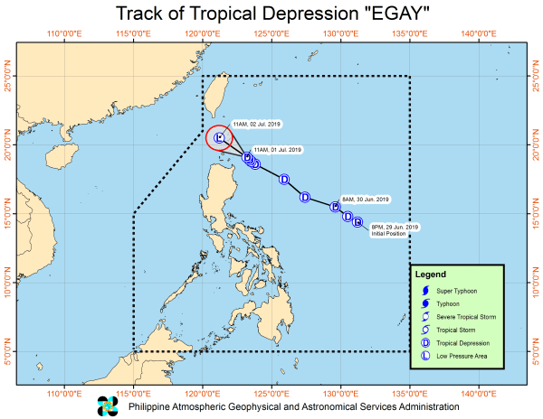 Philippine Weather Update July 2 2019