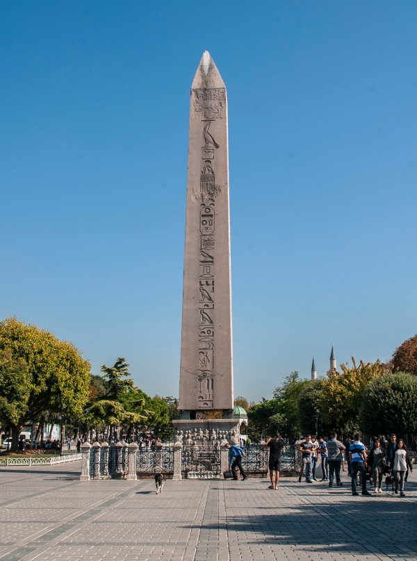 At the end of the ancient hippodrome is this Egyptian Obelisk which was cut in half to transport it all the way from Karnak.