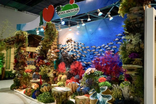 Dive Spots in Bohol themed Booth of Bohol Beach Club