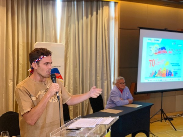 Kyle Jennermann at the 2019 Philippine Travel Mart Press Launch