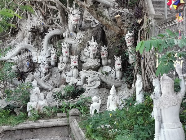 One of the many Stone Sculptures in Marble Mountains