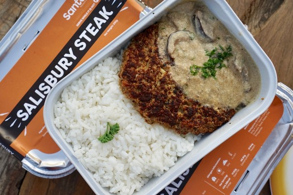 Salisbury Steak AirAsia Inflight Meal