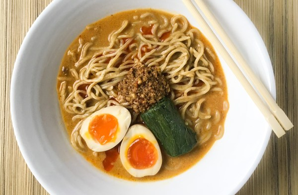 Spicy food lovers would love the zing in this excitingly 'hot' concoction - authentic ramen at Kitsho