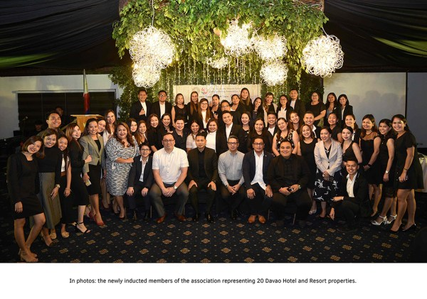 The newly inducted members of the association representing 20 Davao Hotel and Resort Properties