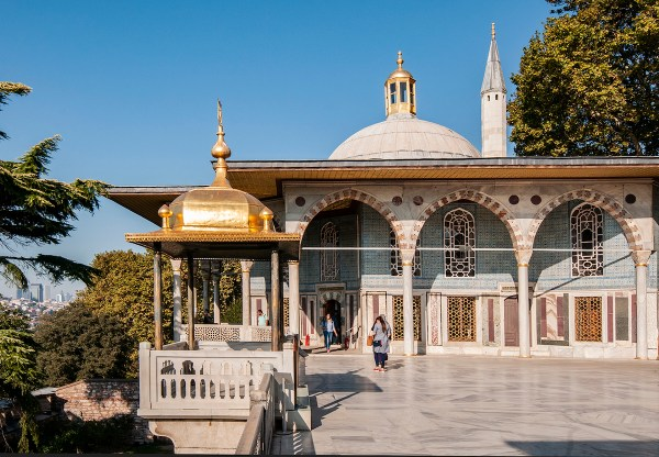 This canopied pavilion has splendid views of the Golden Horn.